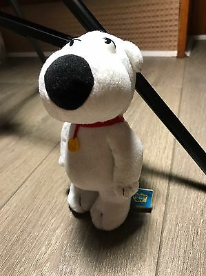 """FAMILY GUY Official BRIAN THE DOG - PLUSH SOFT TOY. 7"""" Approx. Great Condition."""