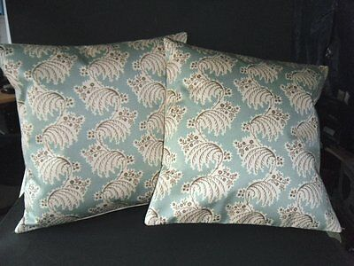 2 X 16 In Square Cushion Covers Beautiful Zoffany Fine Cotton Sateen Fabric