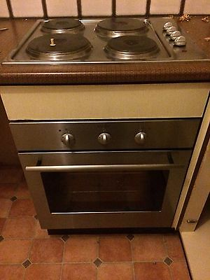 electric oven and hob, Stainless Steel Colour