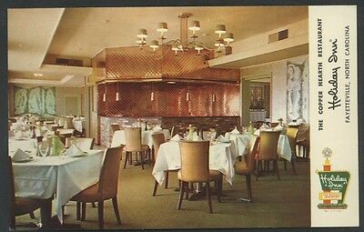 Holiday Inn Restaurant Interior Fayetteville North Carolina Hearth Postcard