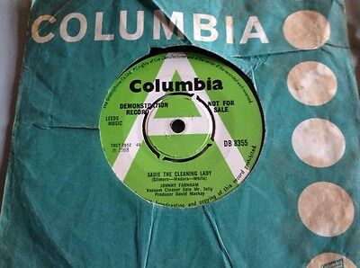 """Johnny Farnham UK DEMO Sadie The Cleaning Lady/Friday Kind Of Monday 7""""Columbia"""