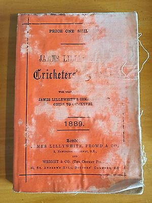 1889 James Lillywhites Cricketers Annual by CW Alcock 18th yr surrey photoplate