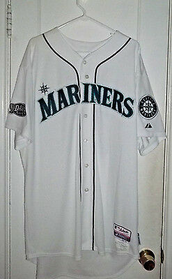 JEFF DATZ  2011 Seattle Mariners Home Jersey MLB AUTHENTIC  Dave Patch