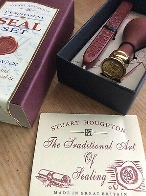 New wax seal Stuart Houghton letter B boxed
