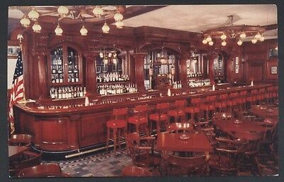 Bookbinder's Restaurant Interior Bar Philadelphia Pennsylvania Postcard