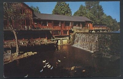 Cobb's Mill Inn Postcard Hotel Restaurant Waterfall Weston Connecticut