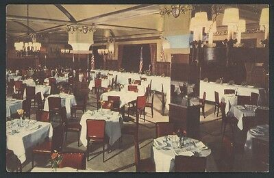 Kugler's English Room Restaurant Interior Chestnut Postcard