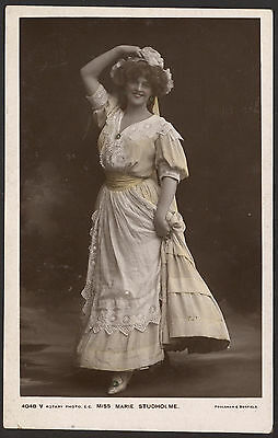 Actress Miss Marie Studholme - c1906 Colour Tinted Real Photo Postcard