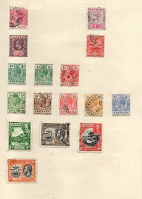 Stamps from Grenada 1890's to 1930's