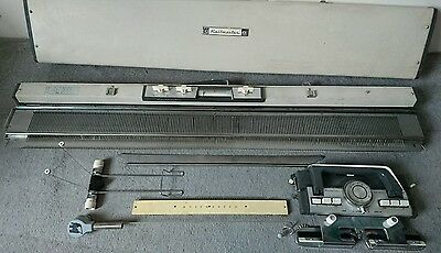 Knitmaster ES-302 vintage knitting machine and accessories