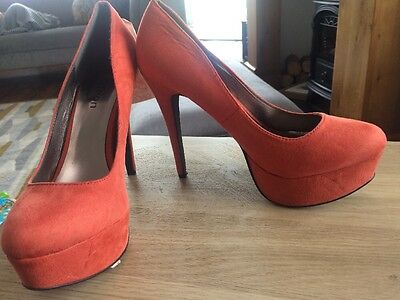 Coral High Heels Odeon Shoes Size 8