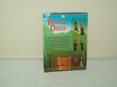 Trouble Dolls (worry dolls) New Old Stock original package 1985 Guatemala