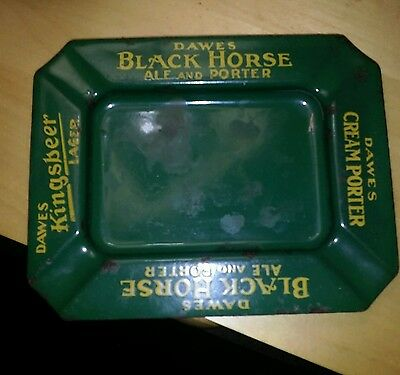 Dawes Black Horse Porter and Ale Ashtray 1920's-1930's (Canada)