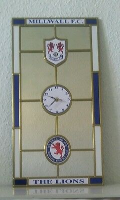 Millwall F.C mirror clock .Unique item.