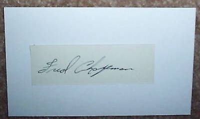 Fred Chapman signed cut auto - Phil A's 1940's