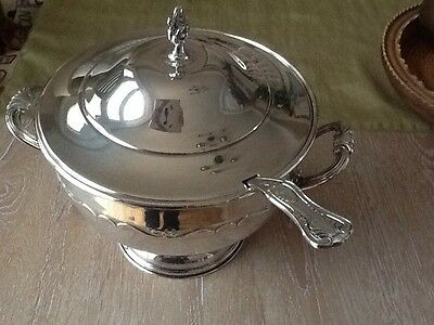 Silver plated Soup Tureen with Lid & Ladle