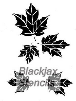 Camo Maple leaf Cluster Airbrush Stencil,Template, Camouflagel