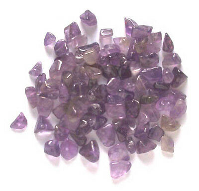 20g of amethyst gem chips - drilled tumblechip beads for jewellery and crafts