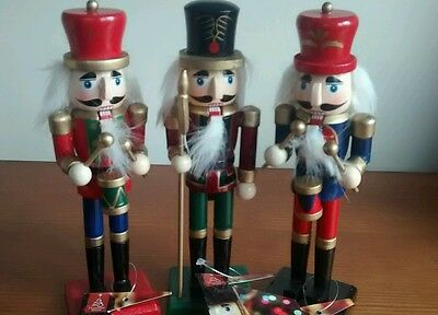 3 small 18cms Nutcracker soldiers ..Brand new set (B)