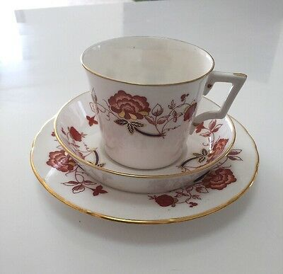 Royal Crown Derby Coffee Trio, Bali Pattern. (3 available)