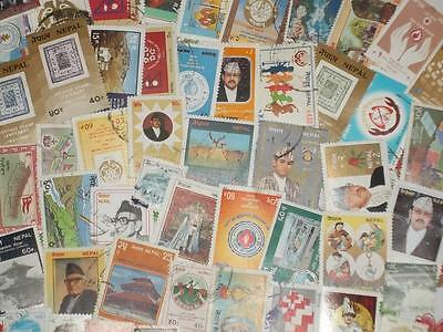 Collection Of Napal Large Pictorial Stamps In Complete Sets Some Mint!