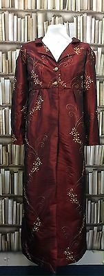 Regency Inspired Stunning Embroidered Faux Silk Pelisse. Make An Offer!