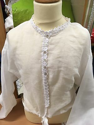 Regency  Inspired Girl's Chemisette in Cotton Muslim.