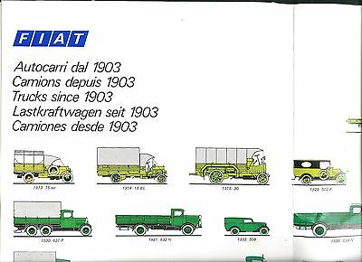 Poster of FIAT Trucks from 1903 to 1974