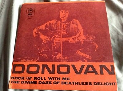 """Donovan Rock 'N' Roll With Me Rare Portugal 7"""" Single P/C David Bowie"""