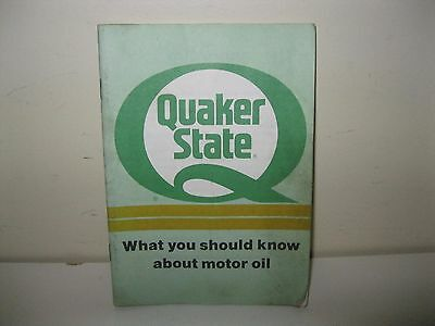 """Quaker State """"what You Should Know About Oil"""" 42 Page Booklet From 1991"""