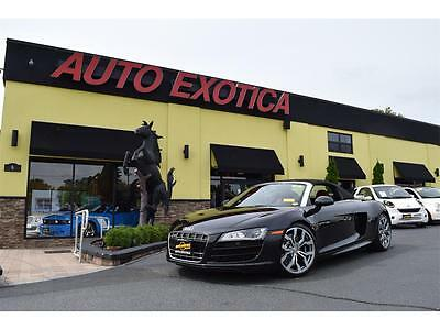 2012 Audi R8  2012 Audi R8 5.2 quattro Spyder Manual STICK SHIFT 2-Door Convertible BLACK