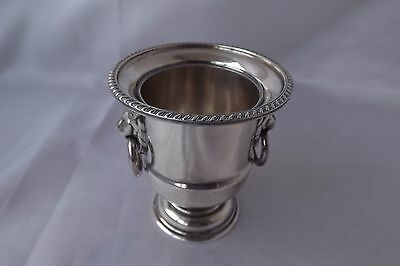 silver plated miniature wine cooler