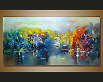 Modern Abstract hand-painted Art Oil Painting Wall Decor canvas 48 inch NO FRAME