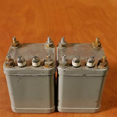 Vintage  Filter Choke, Power Inductor Pair (2) 1Mhy,  Tube Preamp, Amp, Nos!