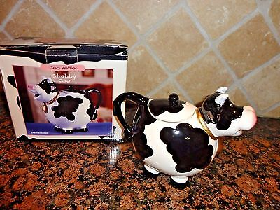 Chubby Cow Porcelain Teapot Tea Kettle