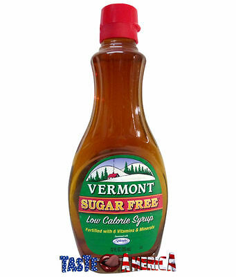 Vermont Sugar Free Low Calorie Maple Flavoured Syrup 355ml American Imported