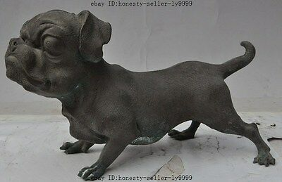 """10"""" china chinese fengshui pure bronze animal dog Canine beast statue Sculpture"""