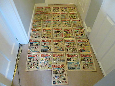 BEANO COMICS X 31 FROM 1973/75,  All  complete and in good/fair condition/Dandy