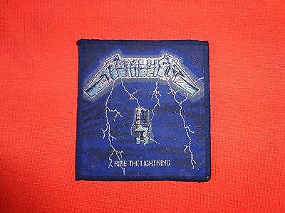 Metallica Ride the Lightning Original Vintage Woven Patch