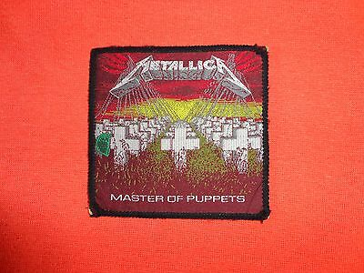 Metallica Master of Puppets Original Vintage Woven Patch