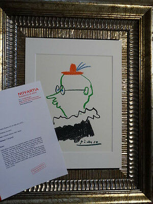 PABLO PICASSO 1965 ORIGINAL !!! - LIMITED EDITION !! 1965 !! !! signed, OLD, COA
