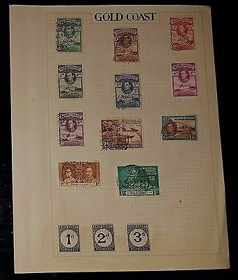 GOLD COAST Mixed Used Stamps (NoL492)