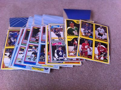 lot of 14 hockey card box bottoms from mid to late 1980s