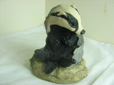 Arista designs Hawick hand painted signed figure Badger by P Hogg 1981