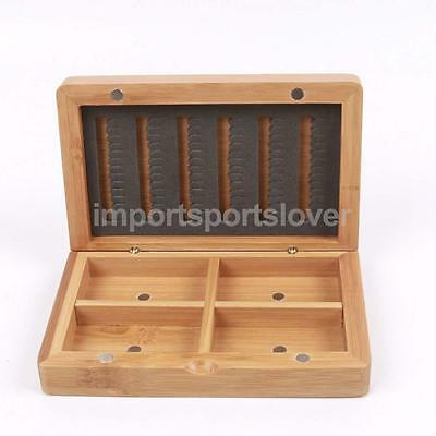 Bamboo Slit Foam Insert Hook Fly Fishing Box Accessories Storage Case Holder