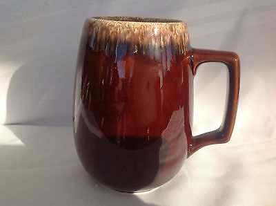 "Hull Jumbo 6"" Brown Drip Mug  Excellent Condition!! Oven Proof/Made in USA"
