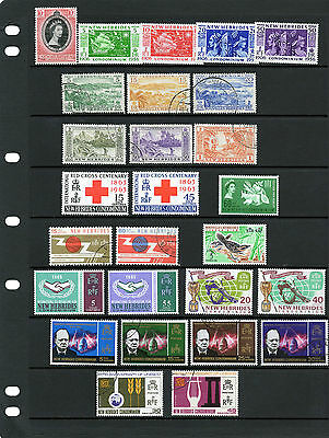 NEW HEBRIDES 1953-66 collection , sets/issues , MINT / Fine Used