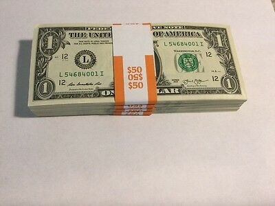 2013 Uncirculated Pack of 50 Sequential One Dollar Bills