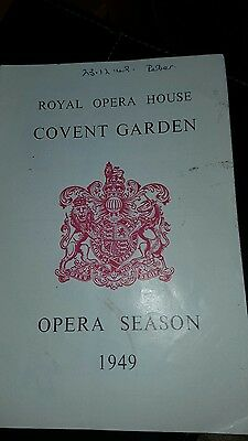 selection of 10 Royal Opera House Programmes - Collectable