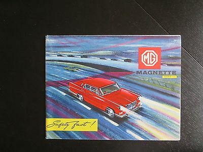 1960 MG Magnette brochure